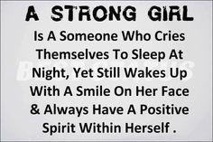 A strong girl