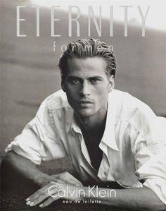 Mark Vanderloo par Peter Lindbergh pour la campagne Eternity for Men 1994