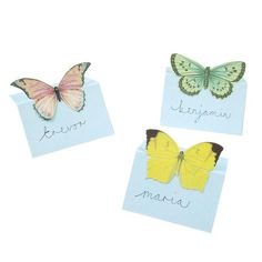 Printable Butterfly Place Cards