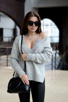 Oversized knit sweater Womens pullover sweater Oversized
