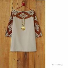 simple batik blouse - choose your fabric and have it tailor made to your measurements by Batik Fashion, Ethnic Fashion, Hijab Fashion, Blouse Batik, Batik Dress, Batik Blazer, African Wear, African Dress, African Blouses