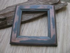 Rustic Wood Frame - Reclaimed Cabinet Door Frame - DIY photo frame