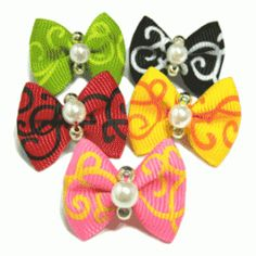 £1.75 SWIRLS DOG HAIR BOW