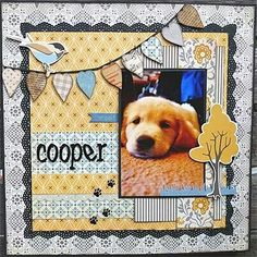Animal Layouts | Scrapbooking Dogs | 12X12 Layout #scrapbooking #animals