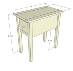 Making This Super Cute Little End Table This Website Has TONS Of - End table with drawer plans