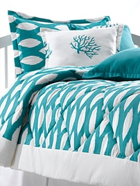 American Made dorm bedding, reasonably priced, great website and fun patterns. You can also get bedding to fit a double or full size mattress!