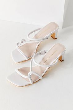 white heeled sandals' barely there sandals; Yellow Pumps, White Heels, Camel Sandals, Heeled Sandals, Strappy Sandals, Shoes Heels, Steel Toe Boots, Simple Shoes, Slingback Sandal