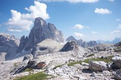 rifugio pian di cengia highest hut in the dolomites of sexten  ...how to hike here though