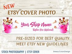 Etsy Store Cover, Premade Sweet Treats Banner, New Shop Photo, Candy Header, Wedding Business, High Resolution, Custom Digital Download