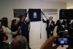 Develación de placa de reinauguración del CICBI (13/02/14).