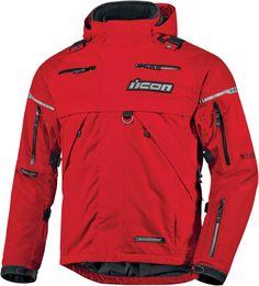 Icon Patrol Waterproof Jacket - Red