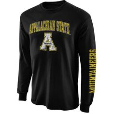 Appalachian State Mountaineers Big Arch N' Logo Long Sleeve T-Shirt - Black - $18.99