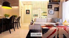 Moderno! Foi neste conceito que pensamos para projetar o apartamento deste cliente. Repare que existe a harmonização das cores de sofá, puff, mesa e cadeiras, assim como uma boa iluminação no local. Ficou lindo! #contemporaneo #apartamento #camilakleinarquiteta #decoracao