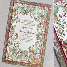C And Gold Watercolor Fl Wedding Invitation Secret Garden