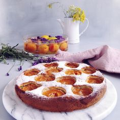 timo e basilico: Tortina morbida alle albicocche {yogurt e avena}