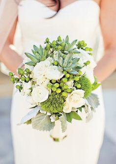 Natural succulent bouquet