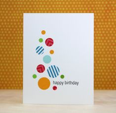 WASHI TAPE bubbles card - Laura Bassen