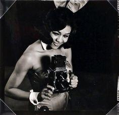 Playboy Bunny Mae Williams at the Cincinnati Playboy Club,  c. 1963