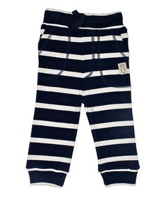 Look what I found on #zulily! Navy Stripe Cord Sweatpants - Infant, Toddler & Kids #zulilyfinds 19.99