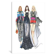 House of Hampton Elie Saab Ladies Painting by Rongrong DeVoe Print on Wrapped Canvas Size: