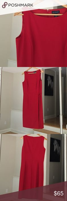 Ann Taylor Dress Classic red sheath wrap dress with front tie. Back hook & eye and zipper. NWOT Ann Taylor Dresses Midi