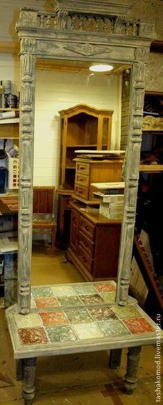 """Купить """"Итальянская мозаика"""""""" (Напольное зеркало) - мебель для дома, загородный… Painted Furniture, Oversized Mirror, Home Decor, Decoration Home, Room Decor, Interior Decorating"""