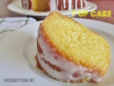7Up Cake - I heard about this for the first time the other day and I want to try making it sometime!