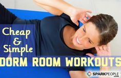 Dorm Room #Workouts for College Students | via @SparkPeople #fitness #exercise