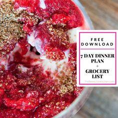 Free 7 day dinner pl