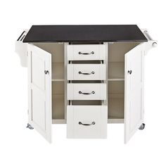Create-a-Cart White Finish Cart | Overstock.com Shopping - Great Deals on Kitchen Carts