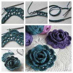 Crochet flowers are so quick and easy to make, they& perfect for beginners. Here are the top 10 free crochet flower patterns to try out! Crochet Diy, Crochet Motifs, Love Crochet, Crochet Crafts, Crochet Projects, Yarn Crafts, Crochet Chain, Double Crochet, Crochet Flor