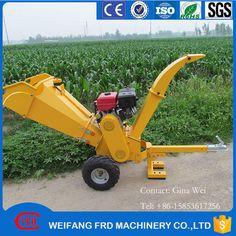 Factory dierect CE certificate 120mm wood chipper with gasoline engine