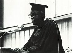 Jackie Robinson delivered the commencement address at his son's graduation from Northfield Mount Hermon in 1970