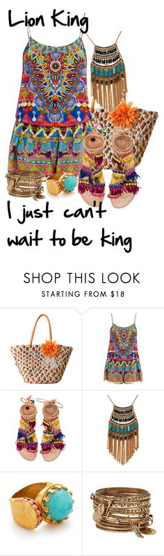 """I just can't wait to be king - the Lion King"" by lambrightness ❤ liked on Polyvore featuring Camilla, Elina Linardaki, Leslie Danzis, Ottoman Hands and ALDO"