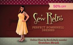 Go Behind the Scenes of Sew Retro with Gretchen Hirsch + Get 50��0Her Bombshell Dress Class!