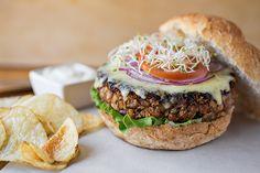 "The Veggie Burger"" with Creamy Lemon-Garlic Mayo | Veggie burgers ..."