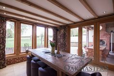 Case Study: Craftsmanship shines through in dramatic oak-framed extension - Oakmasters Timber, House, Home, Windows, Contemporary, Beautiful Windows, Oak Framed Extensions, Craftsmanship, Oak
