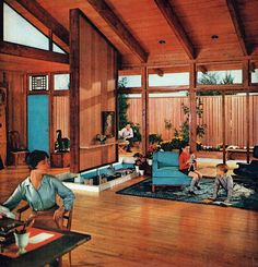 mid century living 1959.  Repinned by Secret Design Studio, Melbourne. www.secretdesignstudio.com