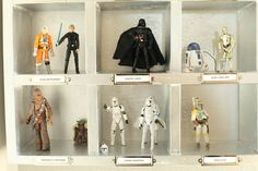 """Star Wars cubbies for his """"guys."""""""