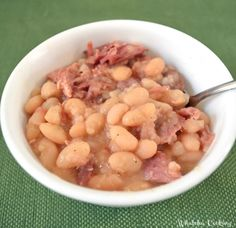 Easy Ham and Beans - Whatcha Got Cooking