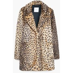 MANGO Leopard Faux Fur Coat (1,325 MXN) ❤ liked on Polyvore featuring outerwear, coats, jackets, coats & jackets, leopard, mango coat, leopard faux fur coat, leopard print coat, long sleeve coat and leopard coat