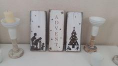 """Deko-Objekte - Shabby Chic Latten rustikal """"Advent"""" - ein Designerstück von Holzallerliebst bei DaWanda"""