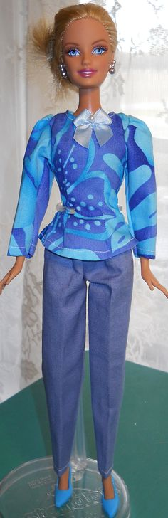 Handmade Barbie cotton slacks with long by AuntieLousCrafts, $8.00