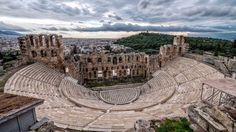 From island-hopping to Santorini or swimming in the pristine waters of the Med - Go on a big fat Greek honeymoon to Athens this even on a tight budget! Athens City, Athens Greece, Places Around The World, Around The Worlds, Greece Tourism, Open Air Theater, Acropolis, Tourist Places, Italia