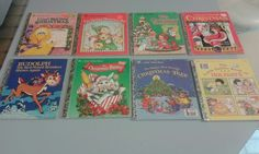 A Little Golden Book -Christmas Stories Mixed Lot of 8 - Different Years Rudolph
