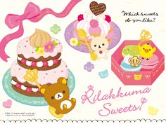 Rilakkuma-Wallpaper-Rilakkuma-Sweets-San-X-Wallpaper-