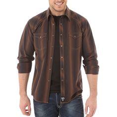 Rock 47 by Wrangler Men's Striped Western Shirt