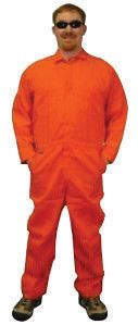 Stanco X-Large Orange 4.5 Ounce Nomex IIIA Flame Retardant Coverall With Front Zipper Closure And Elastic Waistband