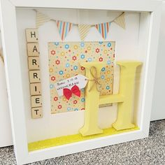 New Baby Gift- Scrabble Frame Art Newborn Baby Personalised Gift Baby Shower by CandyCaneCraftsCo on Etsy Scrabble Frame, Wooden Scrabble Tiles, Scrabble Art, Baby Girl Gifts, New Baby Gifts, Candy Cane Crafts, Personalized Baby Gifts, Baby Boy Nurseries, Colorful Backgrounds