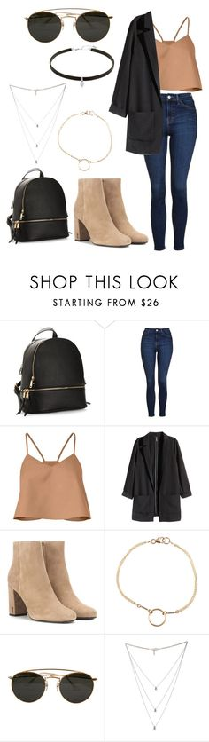"""Untitled #27"" by oliviamfoster ❤ liked on Polyvore featuring Topshop, TIBI, H&M, Yves Saint Laurent, Dogeared, Ray-Ban and Isabel Marant"
